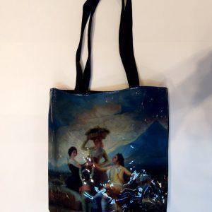 Bolsa de charol negro La vendimia de Francisco de Goya