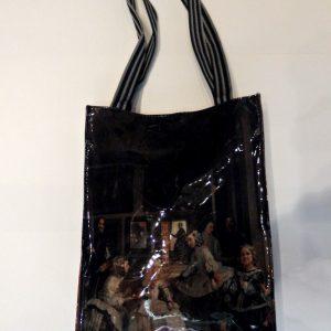 Bolsa de charol negro Las Meninas de Diego Velázquez