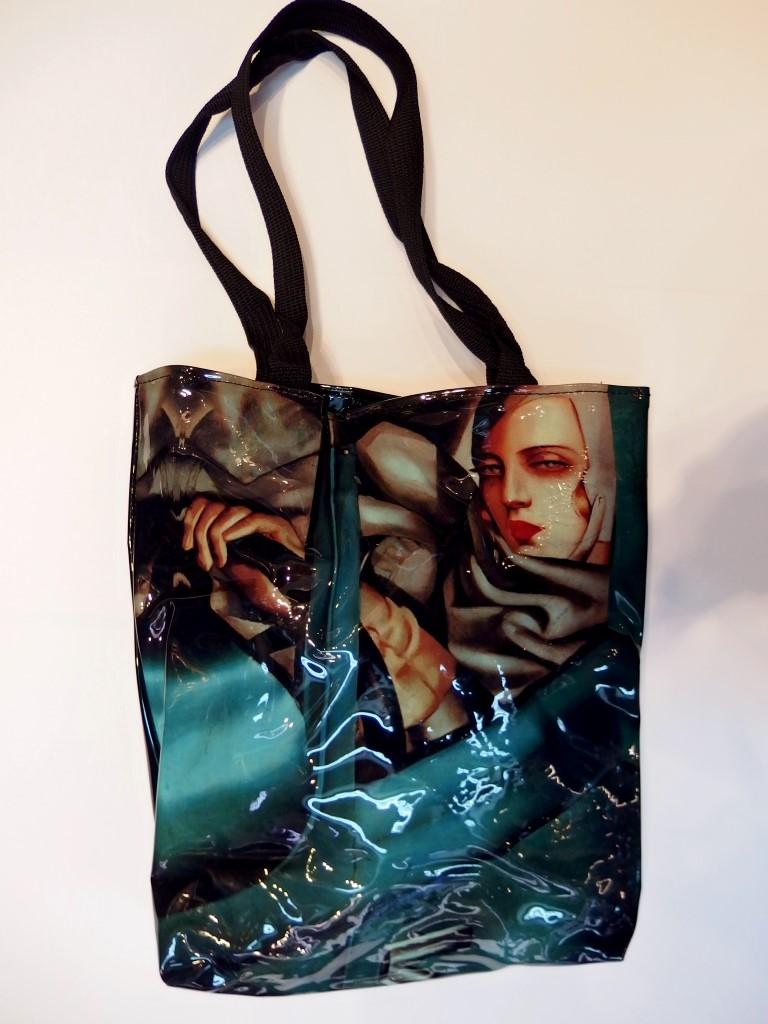 Bolsa de charol negro Tamara de Lempicka