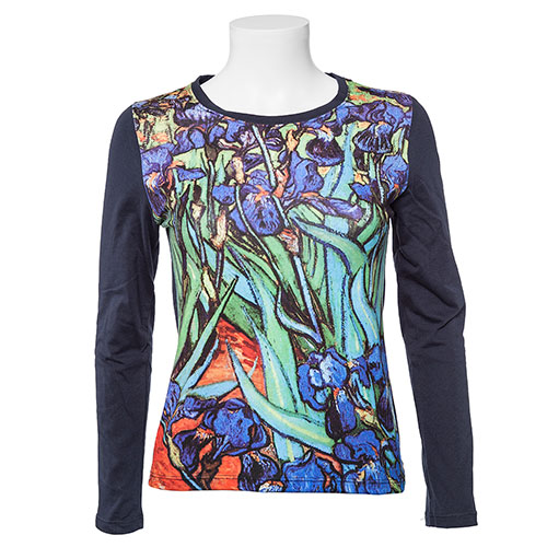 Camiseta Los lirios de Van Gogh