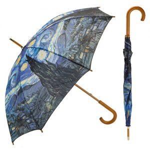 Paraguas noche estrellada de Van Gogh