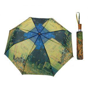 Paraguas terraza de cafe por la noche Van Gogh