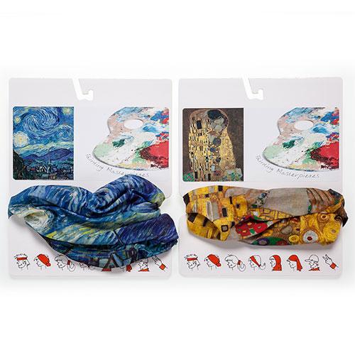 cuellos Noche Estrellada de Van Gogh y Beso de Gustav Klimt