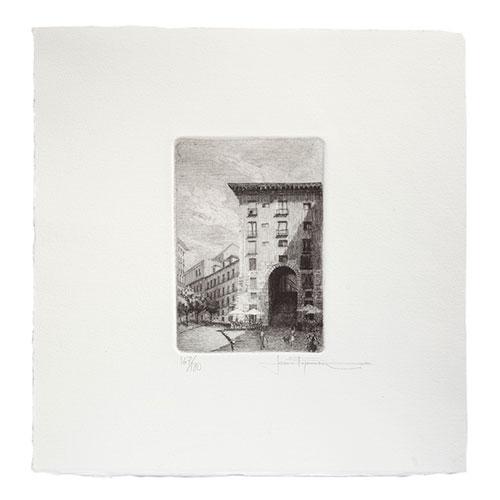 Grabado original Arcos Cuchilleros
