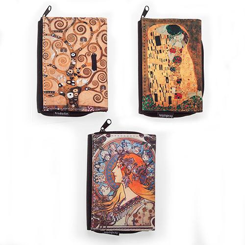 monederos Arbol de La Vida Gustav Klimt, Beso de Gustav Klimt, Alphonse Mucha