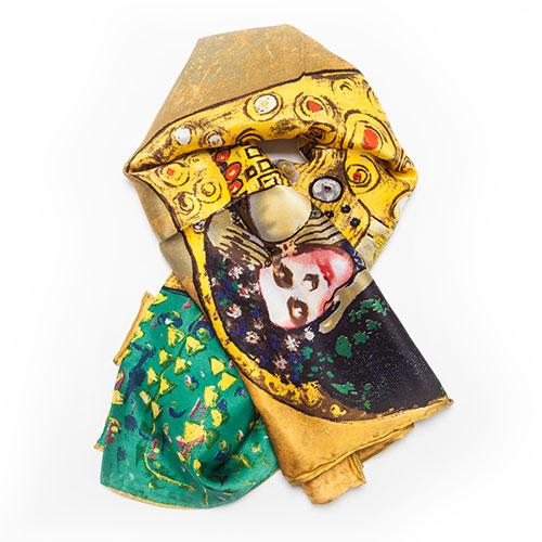 fular el beso de Gustav Klimt