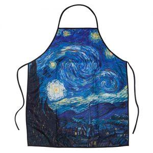 Delantal noche estrellada de Van Gogh